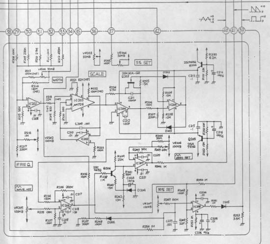 Roland System 100 102 VCO schematic