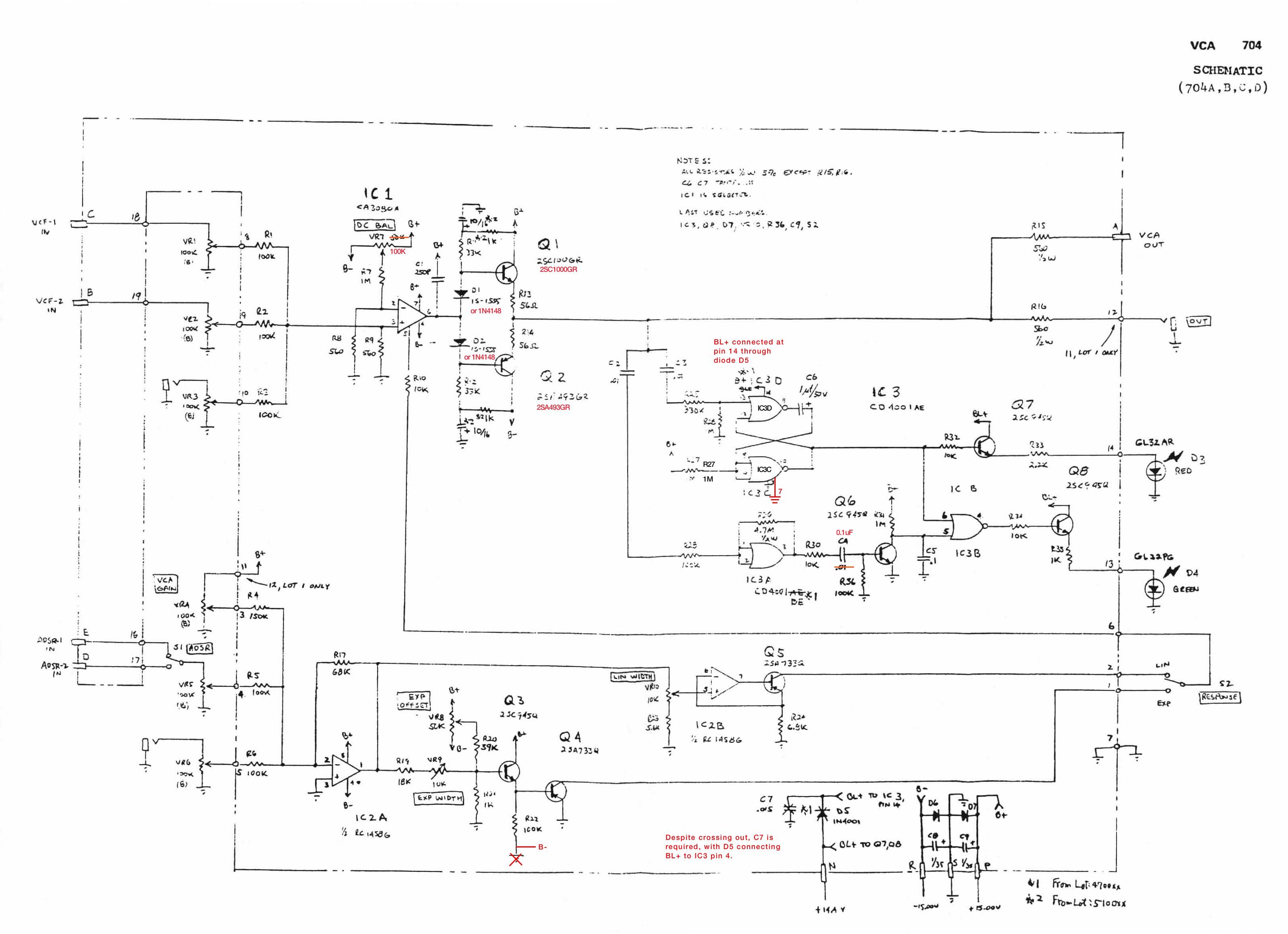diy - ua726 Vca Schematic on
