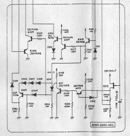 System 100 ADSR schematic