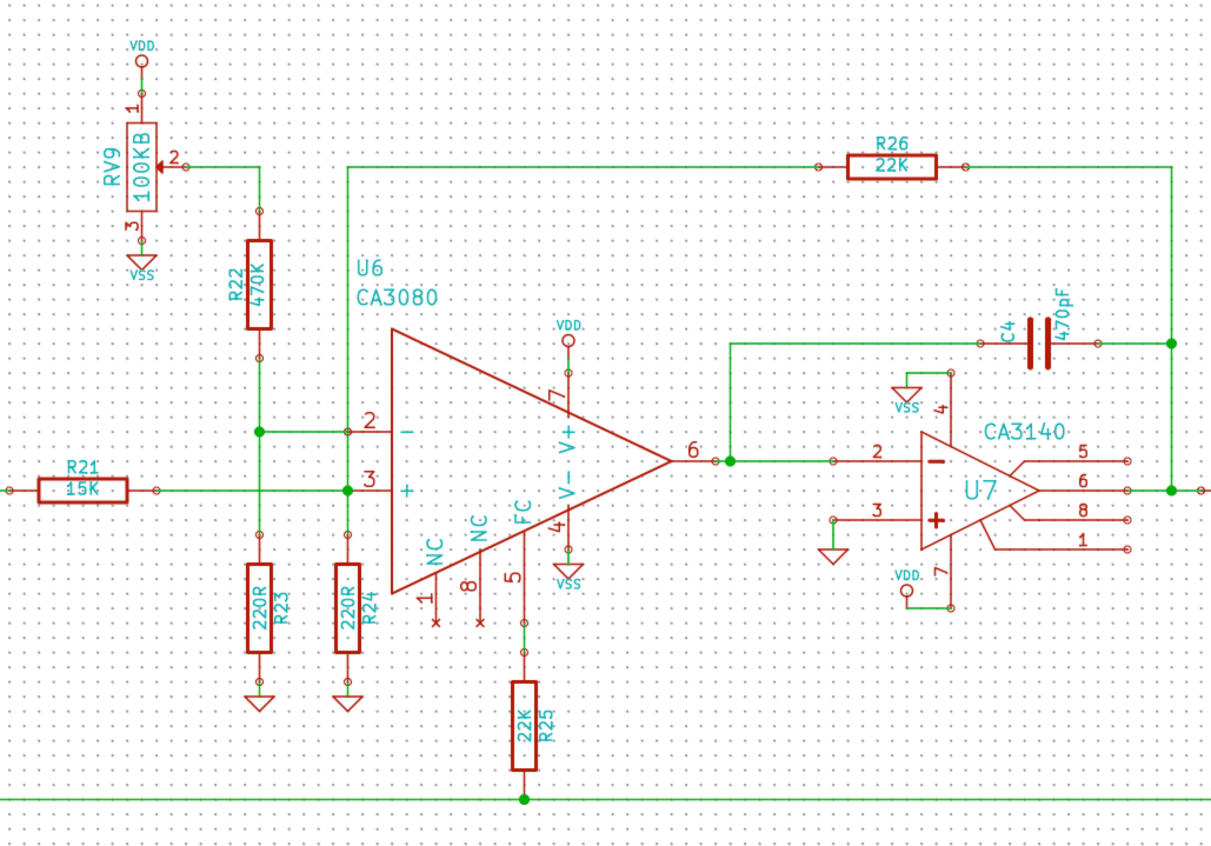 Roland System 700 703E 24db low pass VCF clone - ua726