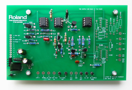 Roland System 700 sample and hold PCB