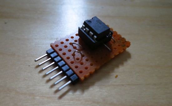 TA7136 > TL071 stripboard adapter