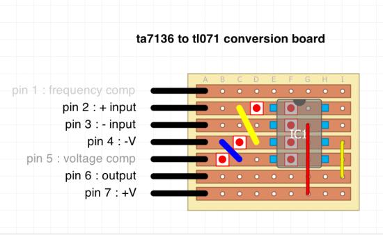 TA7136 to TL071