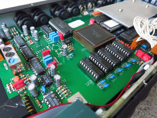 Quadraverb main board - angle