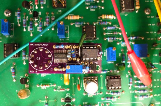 ua726 replacer board on 702VCO