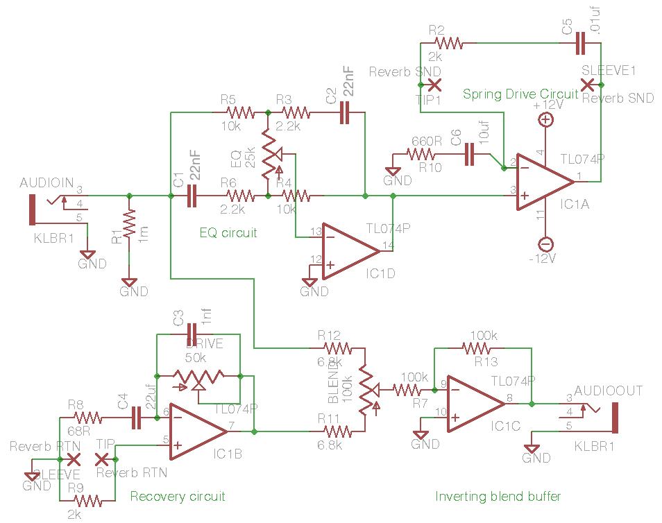 Tombola's DIY spring reverb driver circuit - ua726ua726
