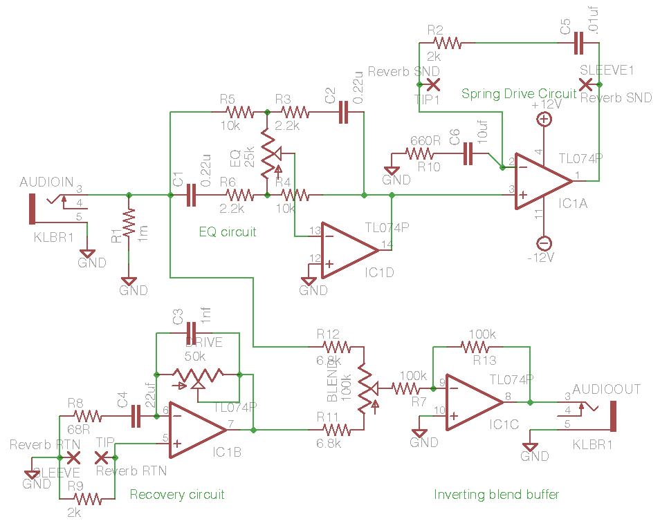 tombola s diy spring reverb driver circuit ua726 rh ua726 co uk spring schematic spring reverb circuit schematic
