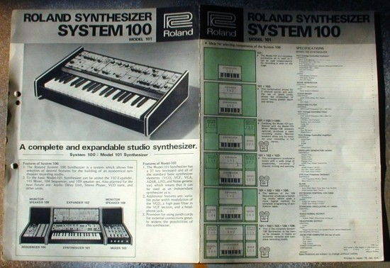 Roland System 100 brochure