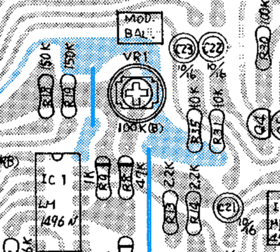 100M noise track layout