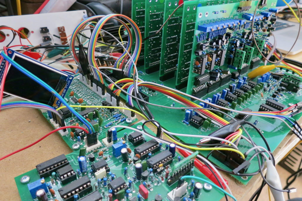 """my four-voice """"compuphonic"""" synthesiser"""